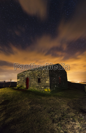 spain galicia little abandoned building at