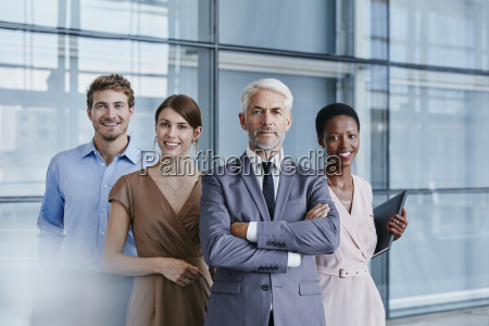 portrait of confident business team