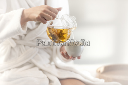 close up of woman in spa
