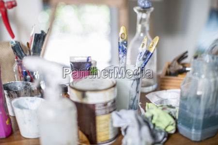 different utensils painting