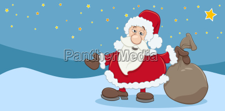 christmas greeting card of santa claus