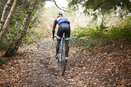cross country cyclist riding on a