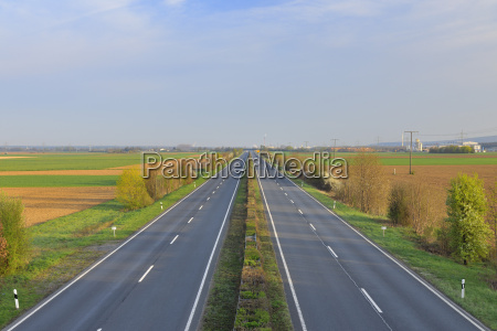 empty highway aschaffenburg franconia bavaria germany