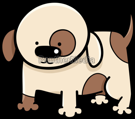 puppy cartoon illustration