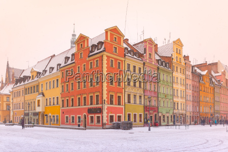 market square in wroclaw poland