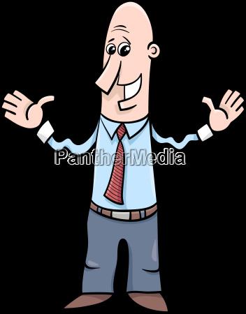 man or businessman cartoon