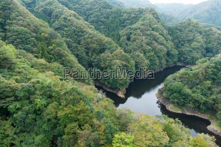 ryujin large suspension bridge in japan