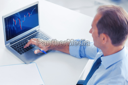 businessman working with forex chart in