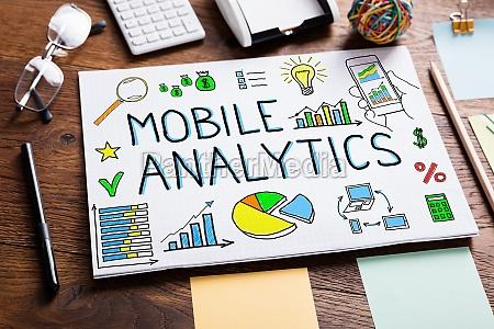illustrative diagram of mobile analytics on