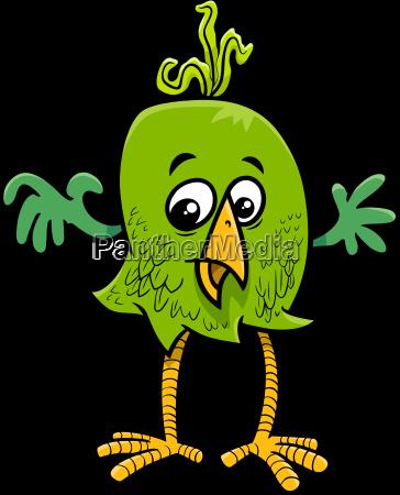 fantasy bird cartoon illustration