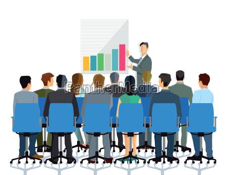 vortrag und beratung vor einer gruppe