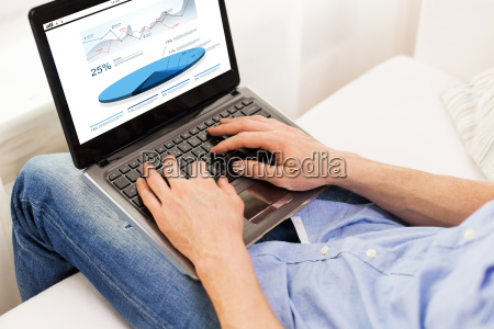 close up of man typing on