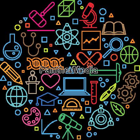 science concept line icon set