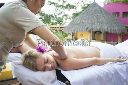 massage at vacation resort