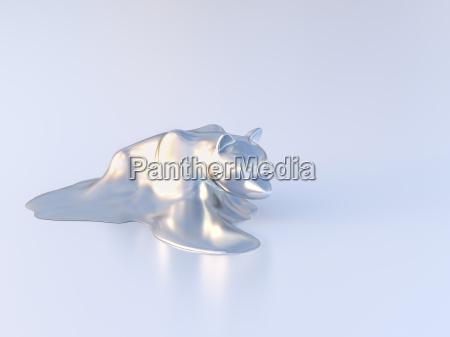 dissolving bear figurine