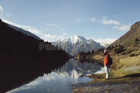 france pyrenees pic carlit hiker taking