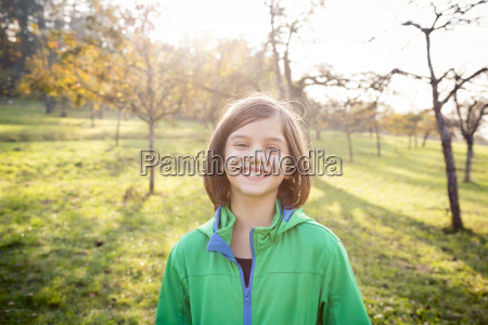 portrait of smiling girl on a