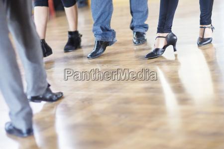 dance class footwork in studio
