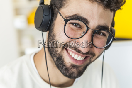 portrait of happy man with glasses