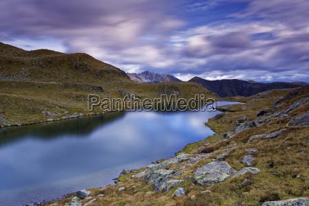 austria carinthia zweisee and mountains in