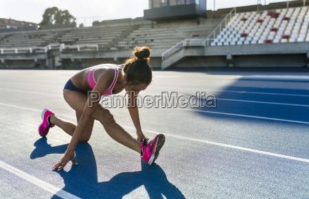athlete warming up for training