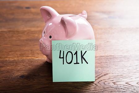 piggy bank for 401k savings