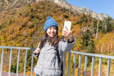 woman taking selfie in mount tate