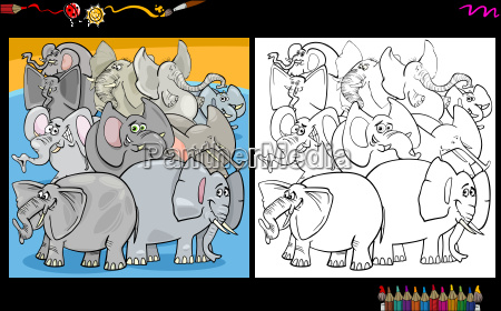 tier, elefant, illustration, cartoon, pensum, task - 20227975