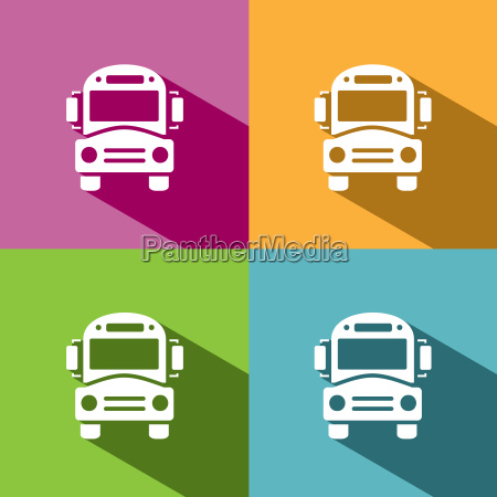 bus schule symbol