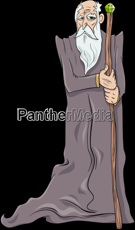 old wizard cartoon character