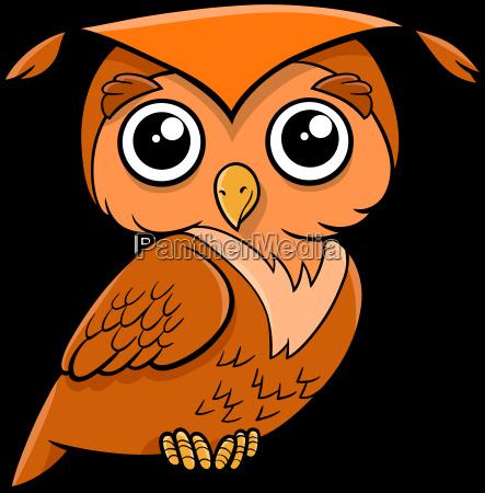 eulenvogel cartoon tier