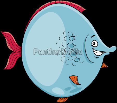 big fish cartoon character