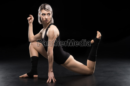 young athletic woman contemporary dancer posing