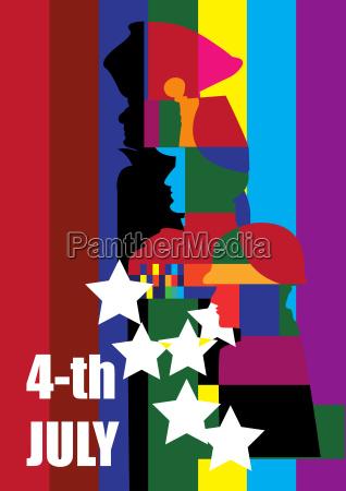 amerika, plakat, poster, party, feier, fest - 20511609