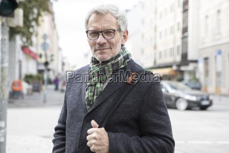 portrait of confident man outdoors