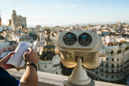 spain madrid close up of binoculars