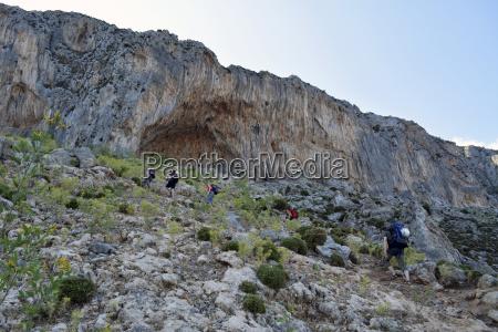 greece kalymnos hiking trip towards rock