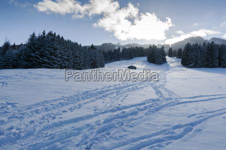 germany nesselwang winter landscape