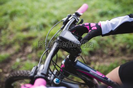 gps device on a mountain bike