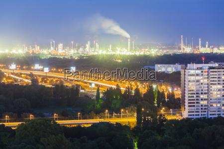 slovakia bratislava view to oil refinery