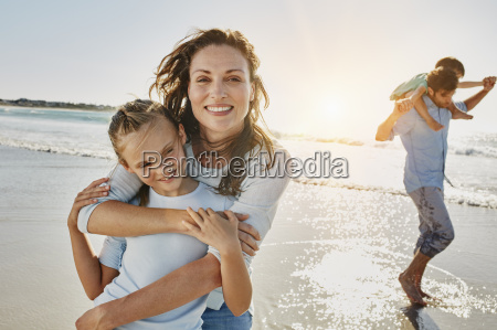 portrait of mother and daughter on