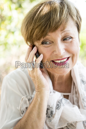 portrait of senior woman on the