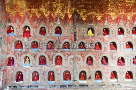 tempel in shwe yaunghwe kyaung kloster