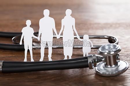 healthcare concept on wooden desk