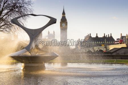 big, ben, und, gabo's, brunnen, london, england, großbritannien, europa - 20898883