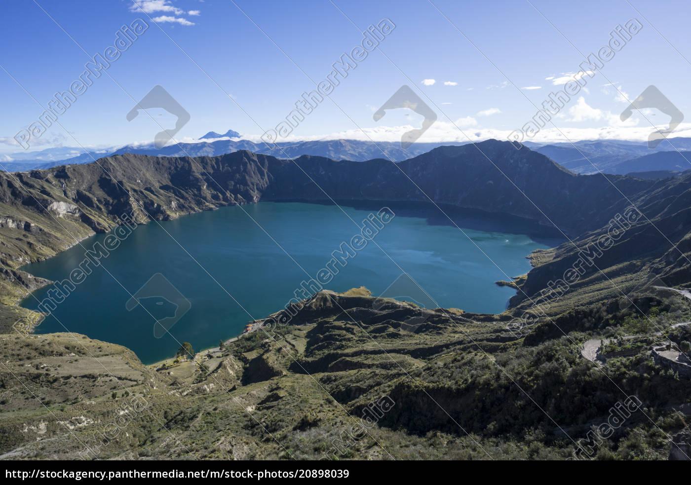 quilotoa, loop, vulkankrater, see, ecuador, südamerika - 20898039