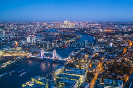 hohe ansicht der london skyline in
