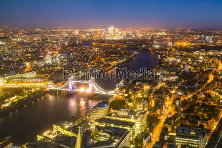 hohe ansicht der skyline von london