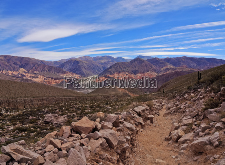 landschaft, der, umliegenden, berge, tilcara, provinz, jujuy, argentinien, südamerika - 20905663