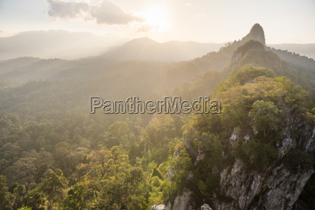 bukit tabur mountain at sunrise kuala